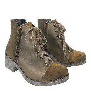 Naot Desert Vintage Leather Suede Groovy Bootie